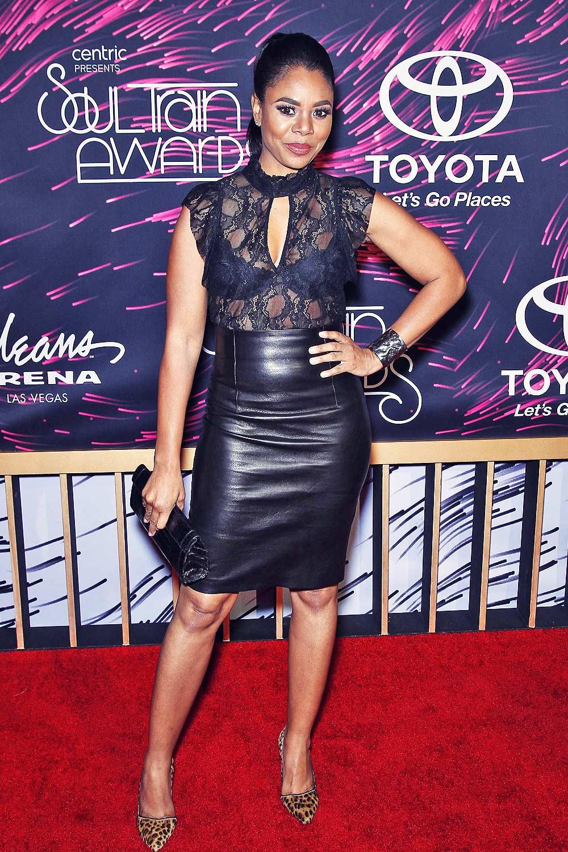 Regina Hall Attends 2015 Soul Train Music Awards Leather