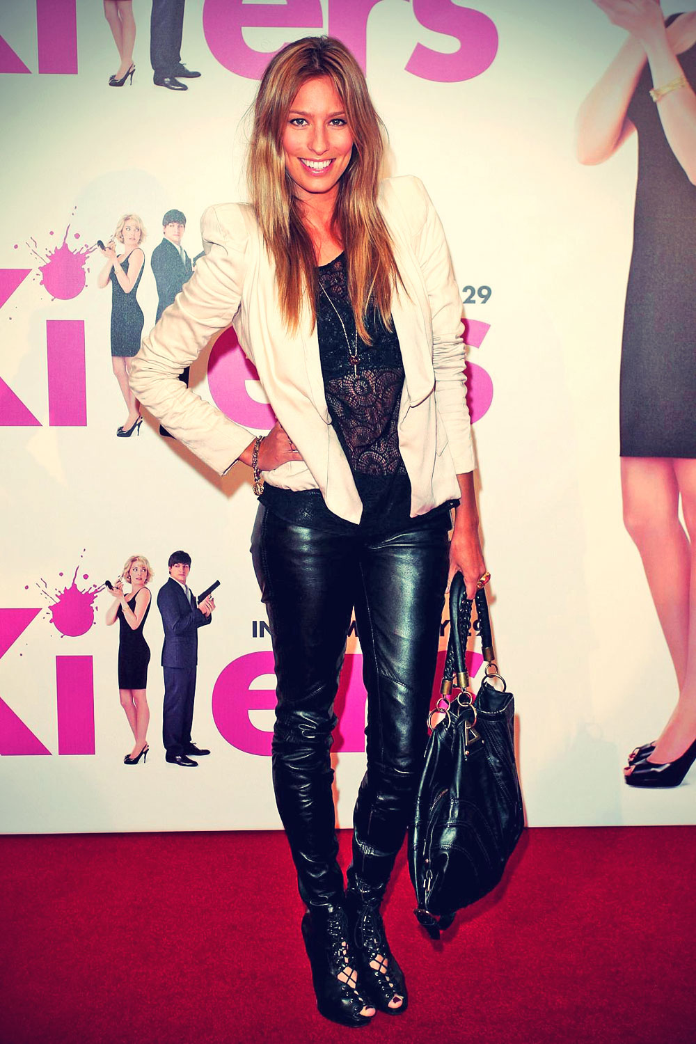 Renee Bargh arrives at the Killers premiere