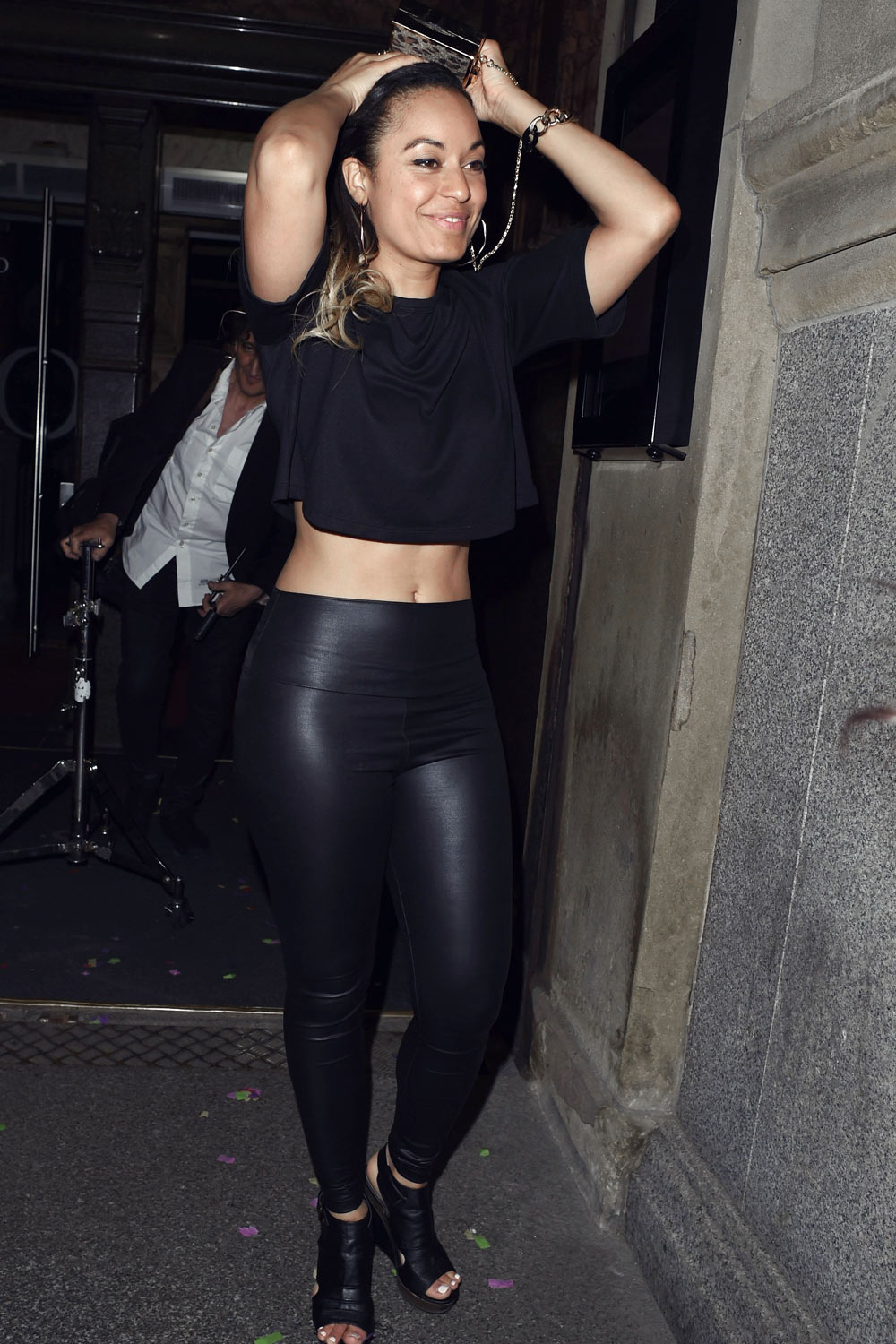 Rhea Bailey leaving Ryan Thomas Party