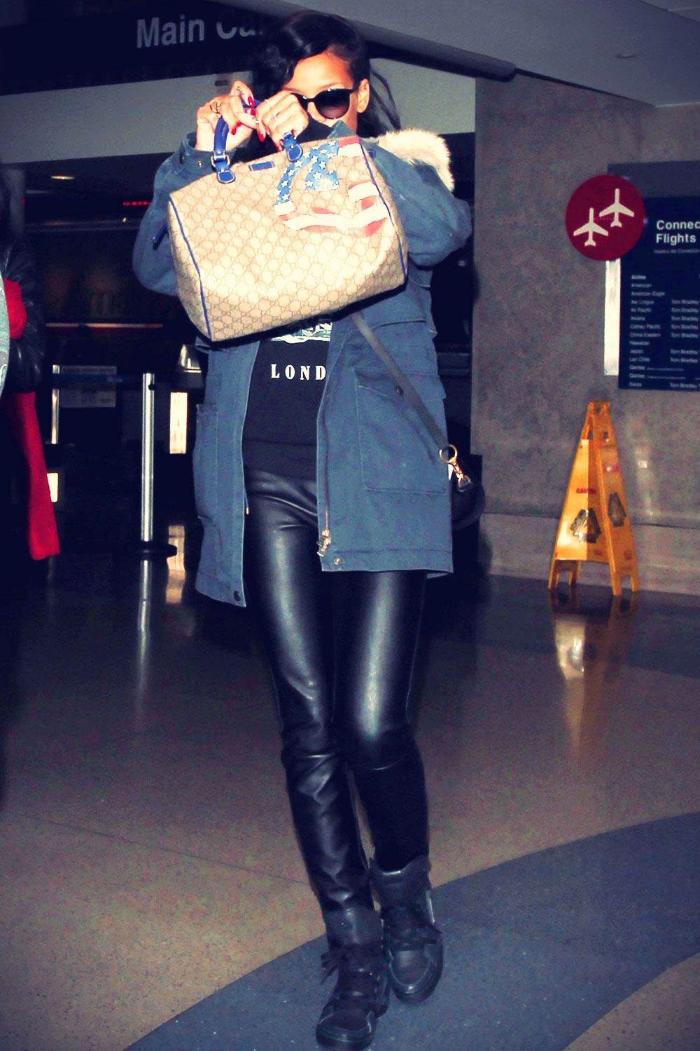 Rihanna At LAX Airport