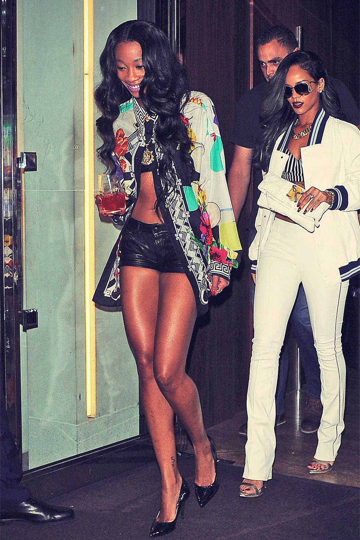 Melissa Forde & Rihanna at Cirque le Soir - Leather Celebrities