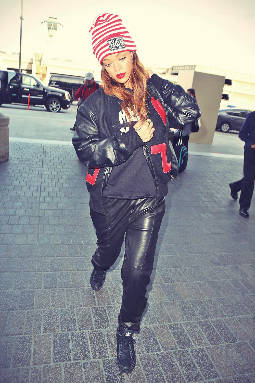 Rihanna at LAX leaving to UK