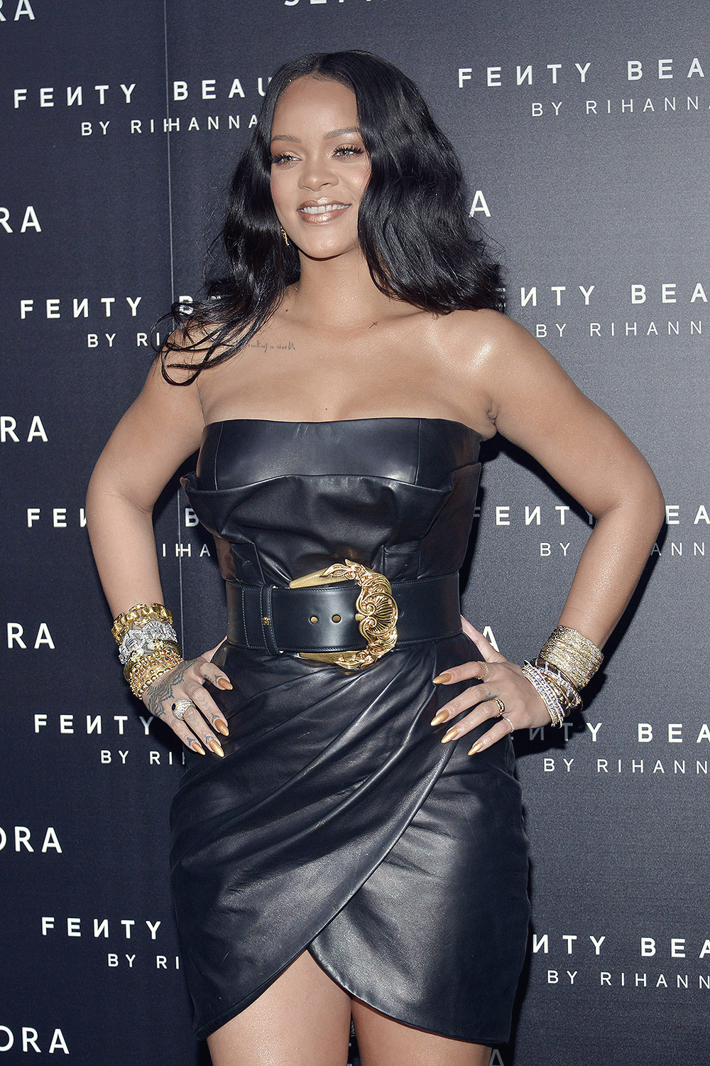 Rihanna attends Fenty by Rihanna makeup launch
