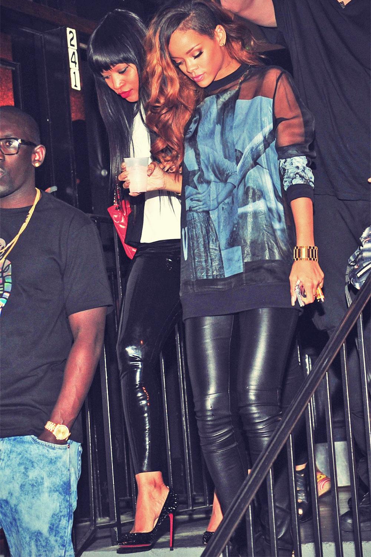Rihanna leaves Magic City nightclub in Atlanta