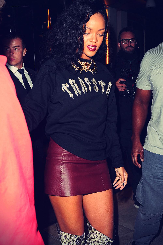 Rihanna leaves Rose club London