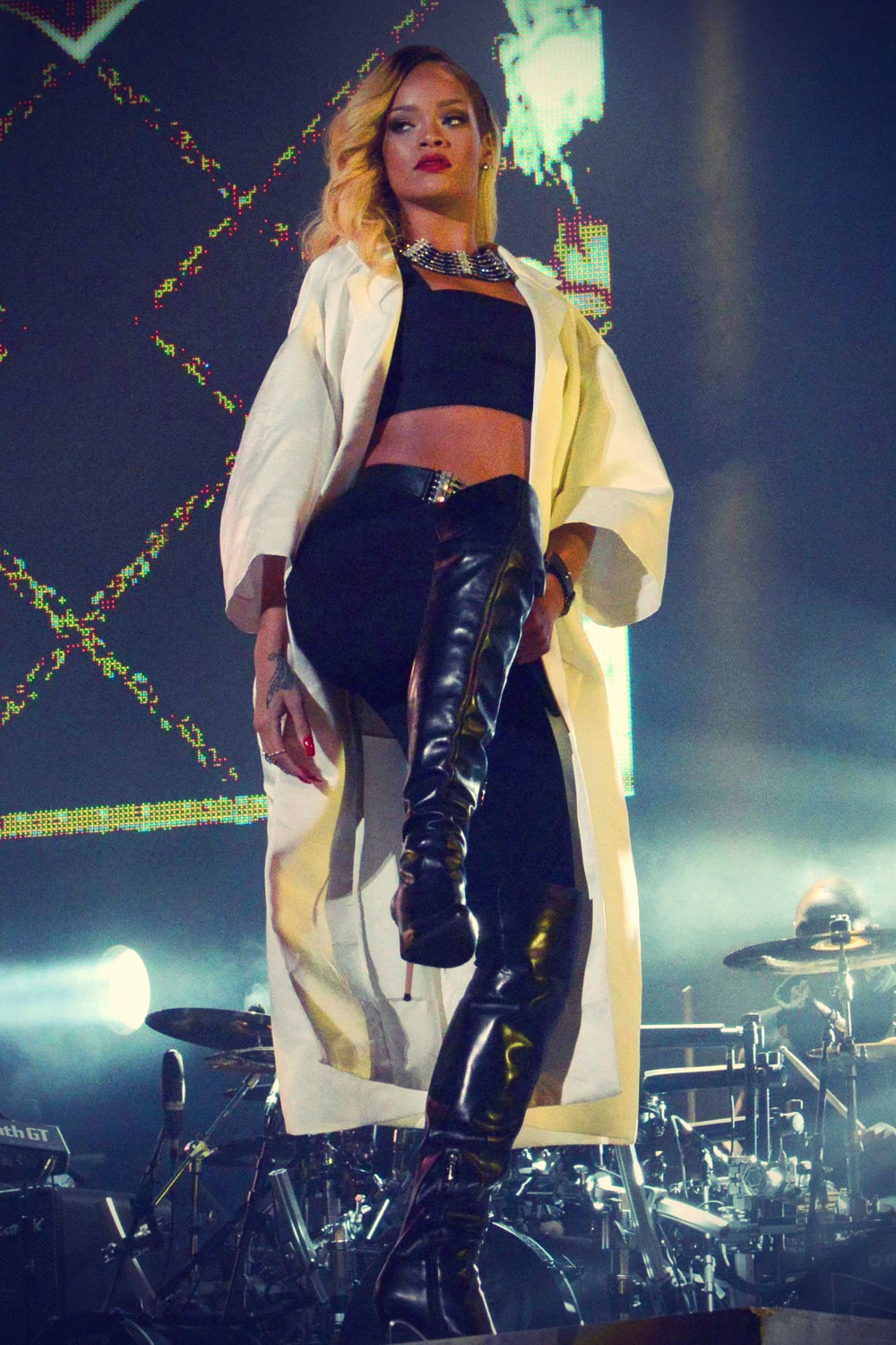 Rihanna performs at the Mawazine Festival in Rabat