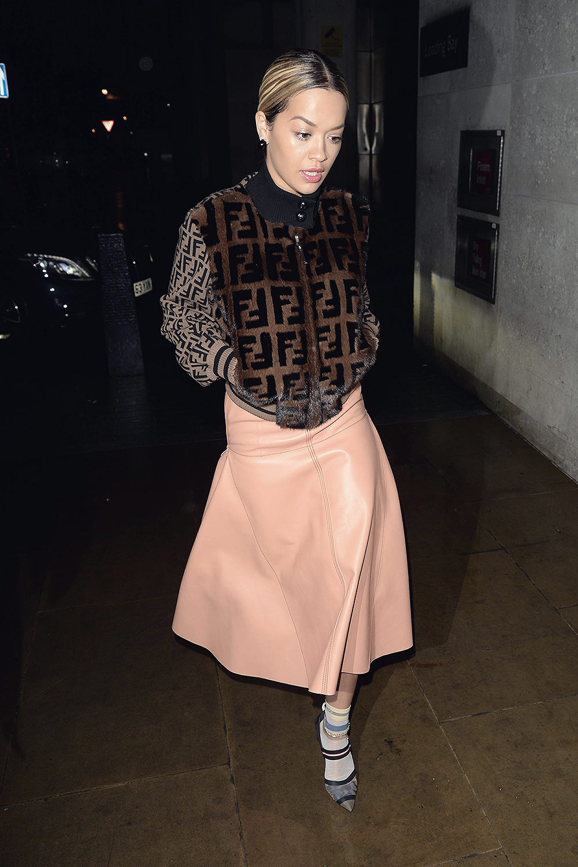 Rita Ora arrives at BBC Radio 1 Studio