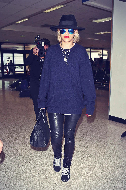 Rita Ora At LAX Airport in Los Angeles