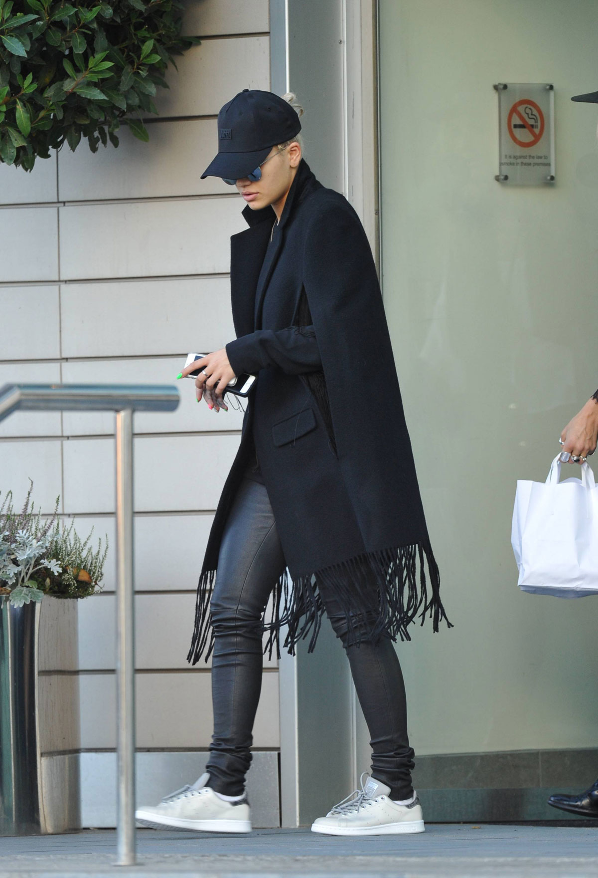 Rita Ora leaving her hotel in Manchester - Leather Celebrities