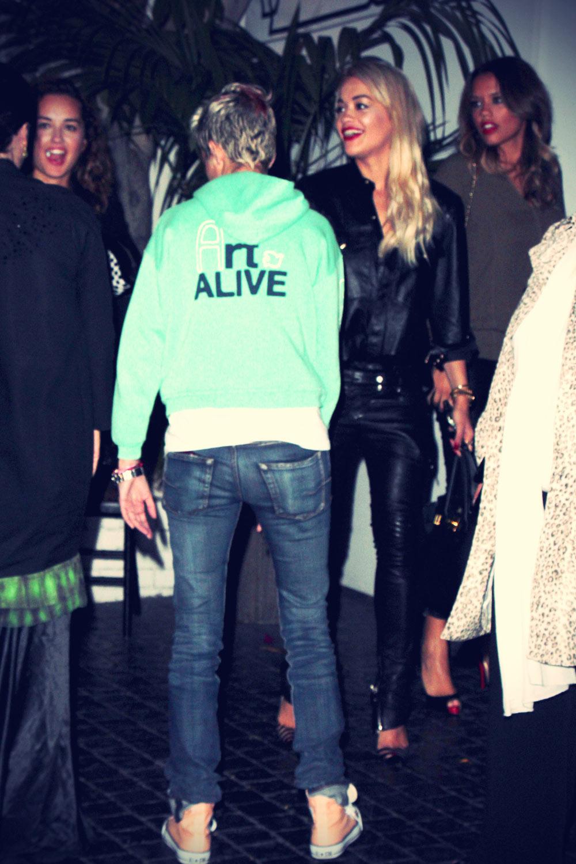 Rita Ora and Samantha Ronson arrive at Chateau Marmont