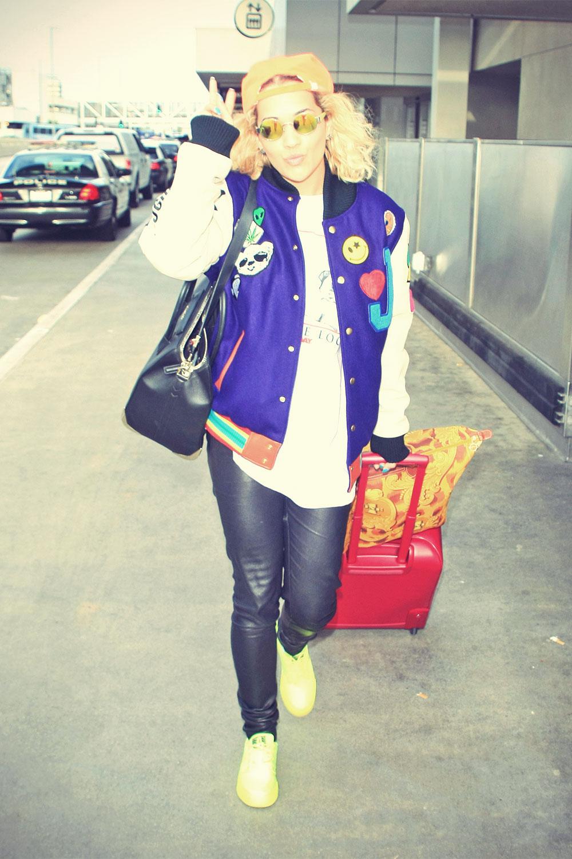 Rita Ora arrived at LAX Airport