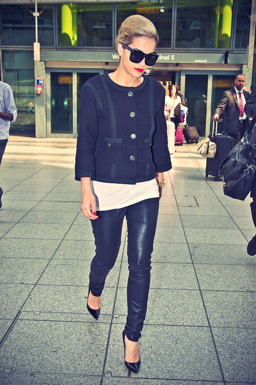Rita Ora arriving At Heathrow Airport In London