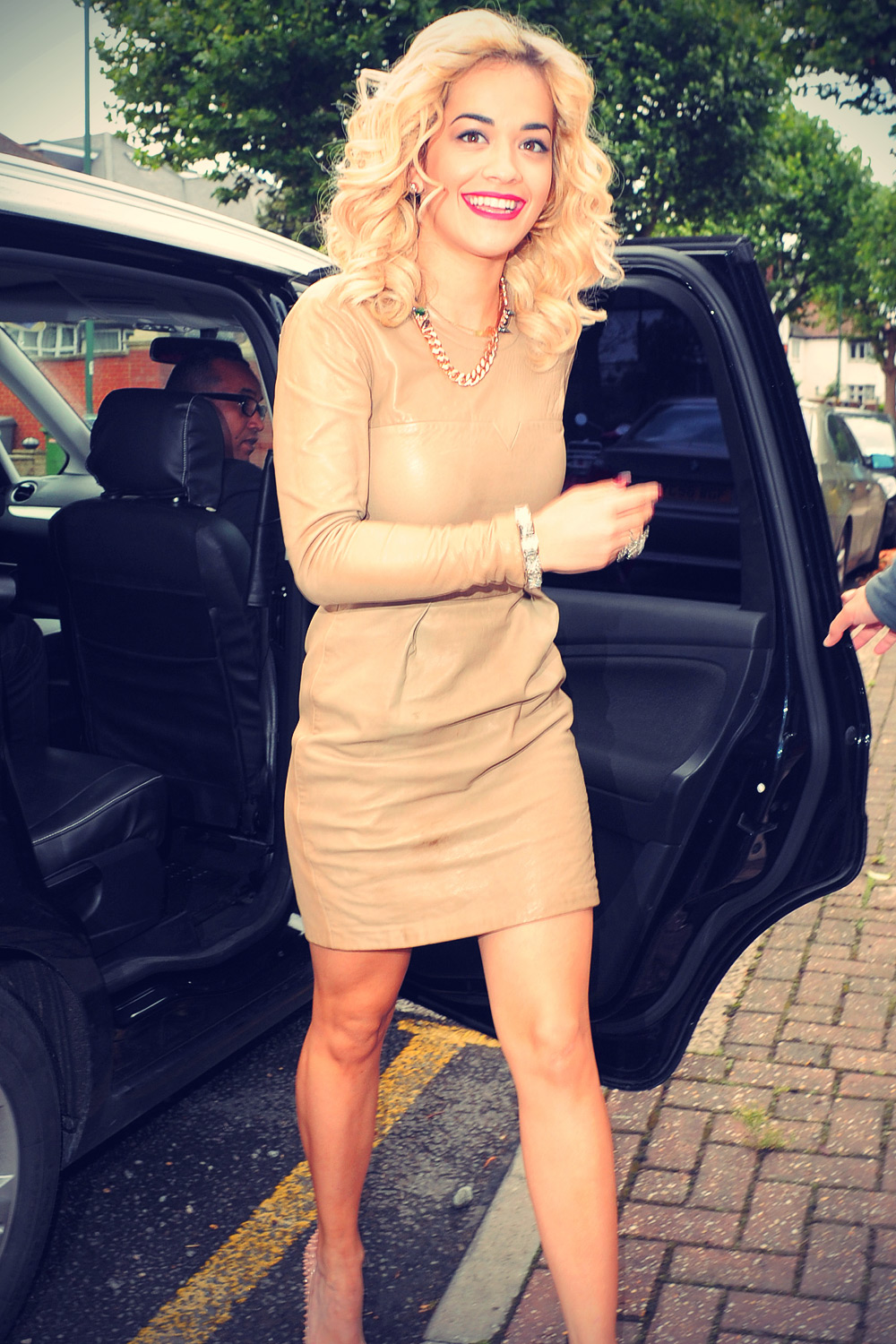 Rita Ora arrives for a photoshoot in north London