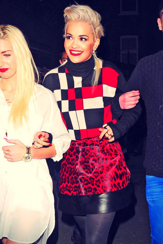 Rita Ora arriving at Charli XCX's gig