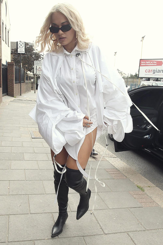 Rita Ora at Capital FM Radio Station