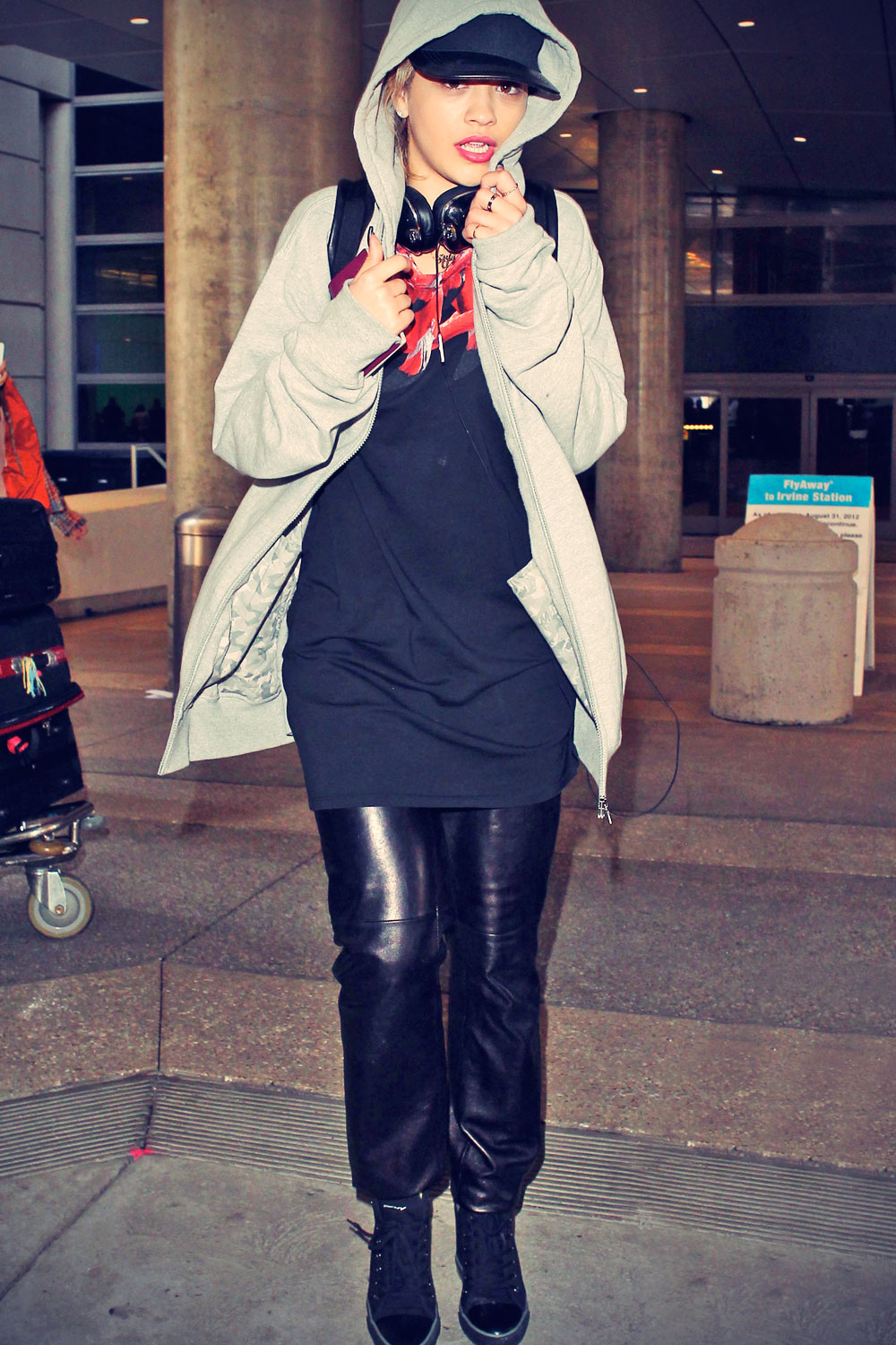 Rita Ora at LAX Airport