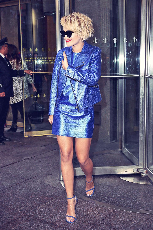 Rita Ora at the Sirius XM Radio station