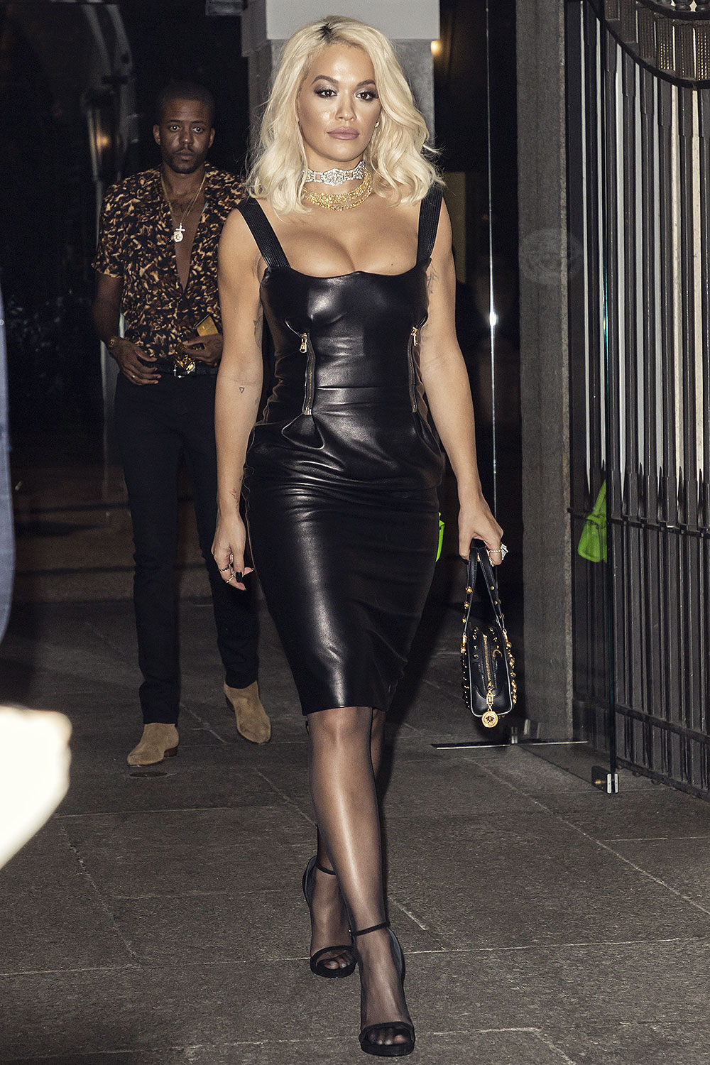 Rita Ora attends Milan Fashion Week