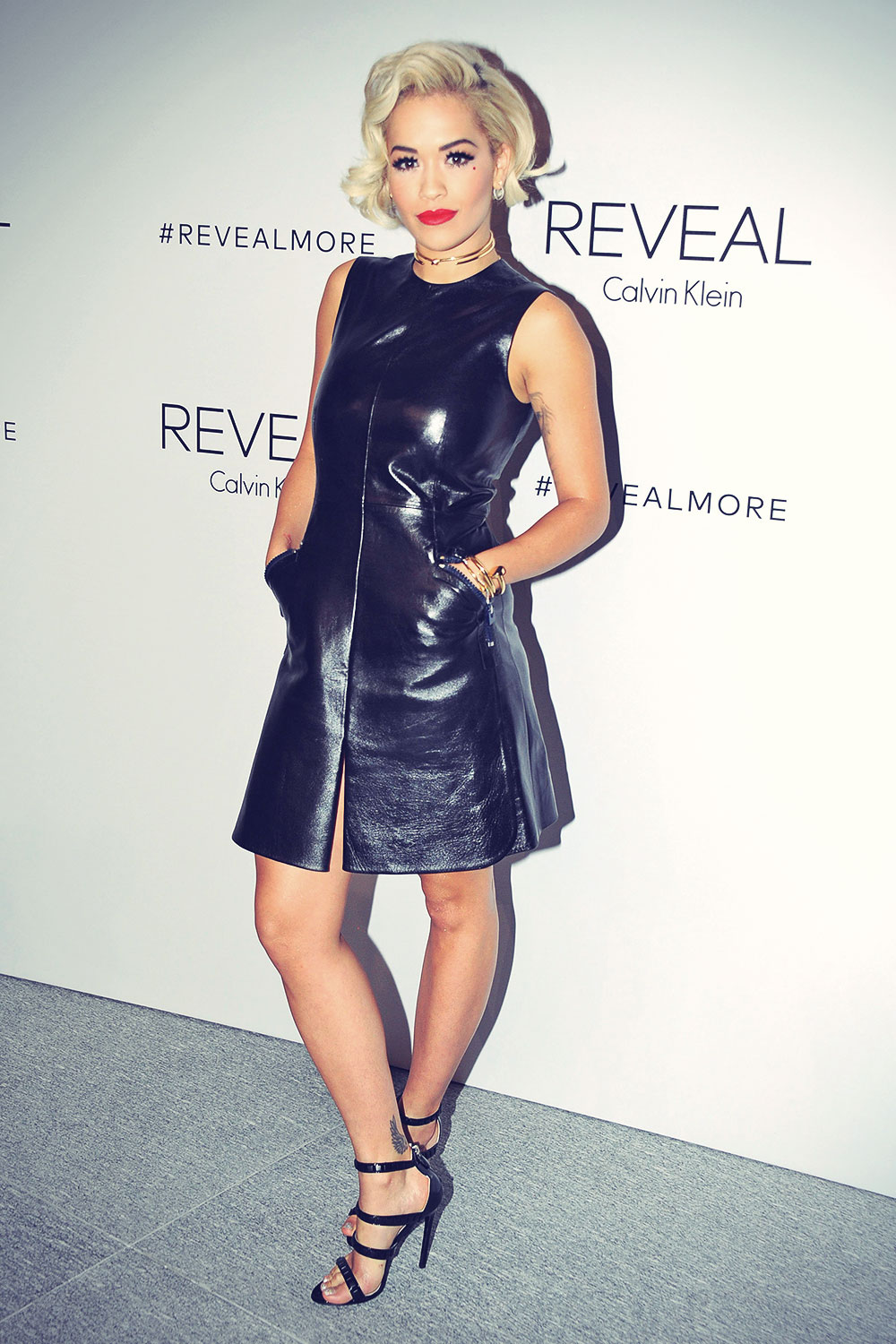 Rita Ora attends REVEAL Calvin Klein Fragrance Launch