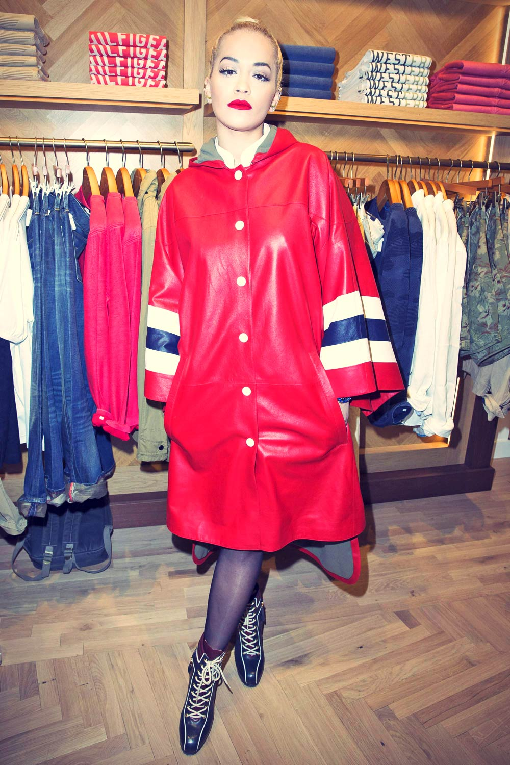 Rita Ora attends the Tommy Hilfiger Opening Store