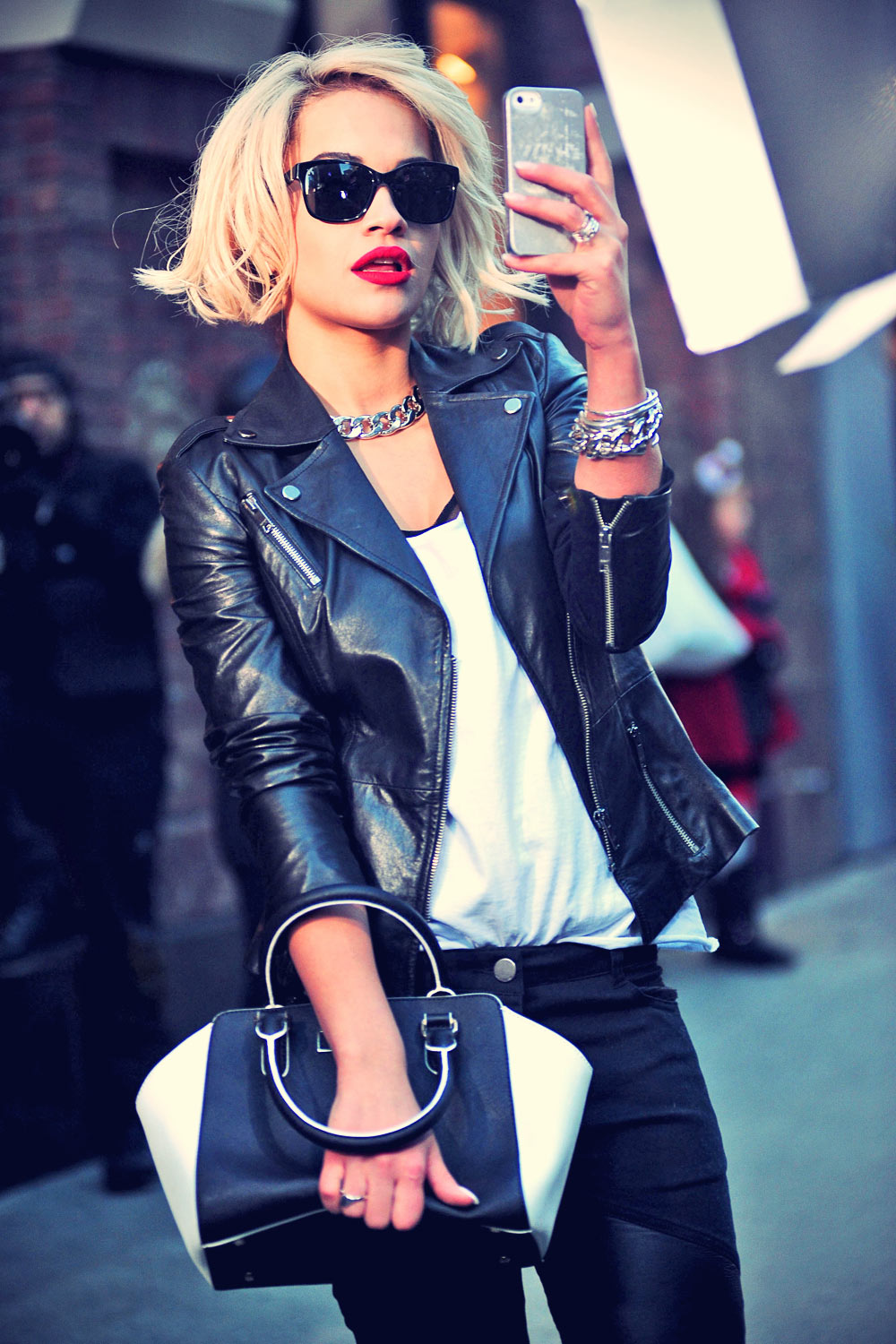 Rita Ora does a photo shoot in Times Square