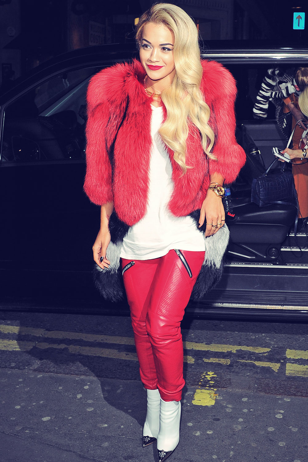 Rita Ora heads out to the Topshop party