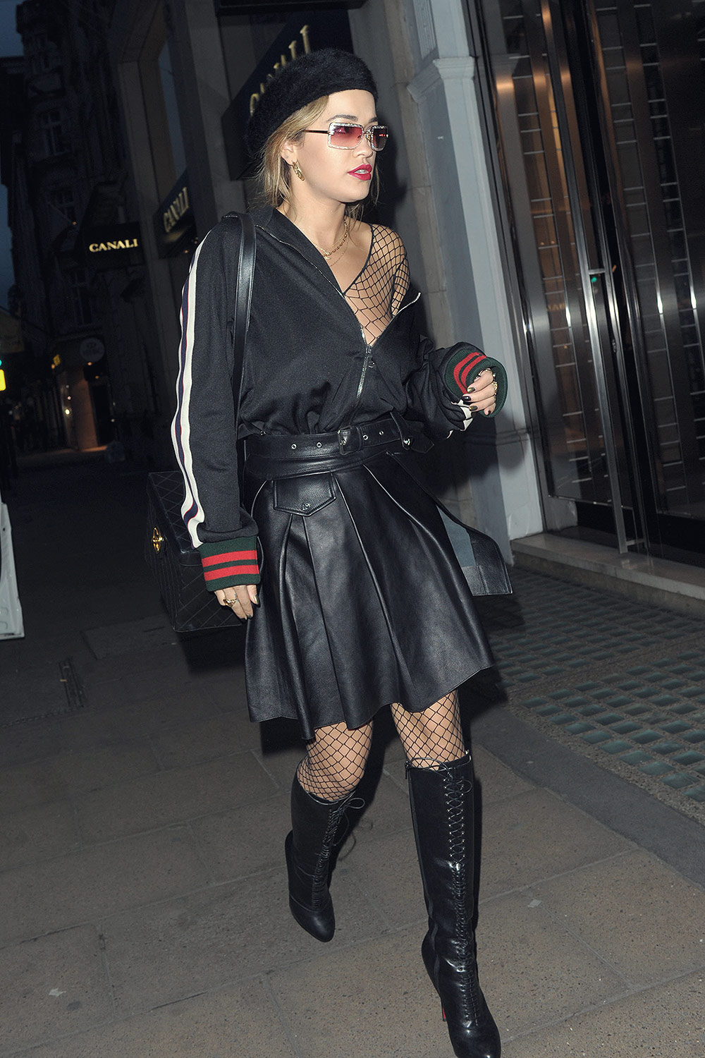 Rita Ora leaves TINGS Magazine - launch party