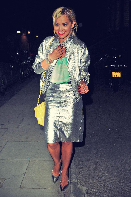 Rita Ora leaving a Recording Studio