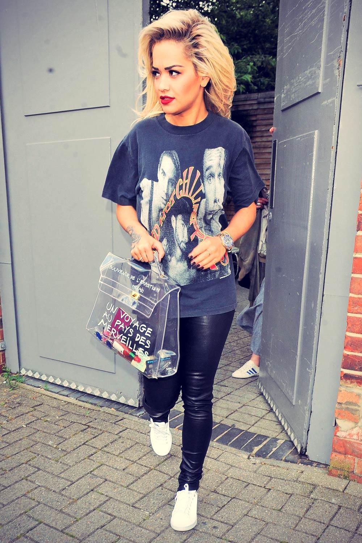 Rita Ora leaving a photo studio in London