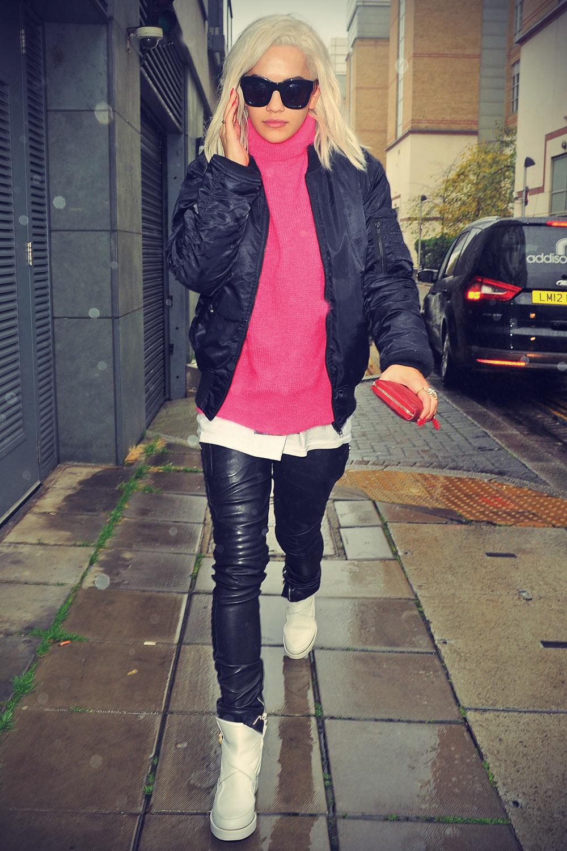 Rita Ora leaving her London hotel