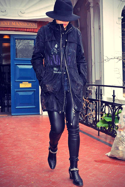 Rita Ora leaving her home in London