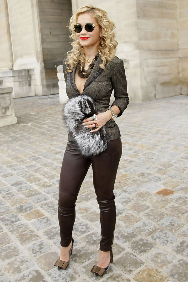 Rita Ora at Paris Fashion Week Spring/Summer 2011