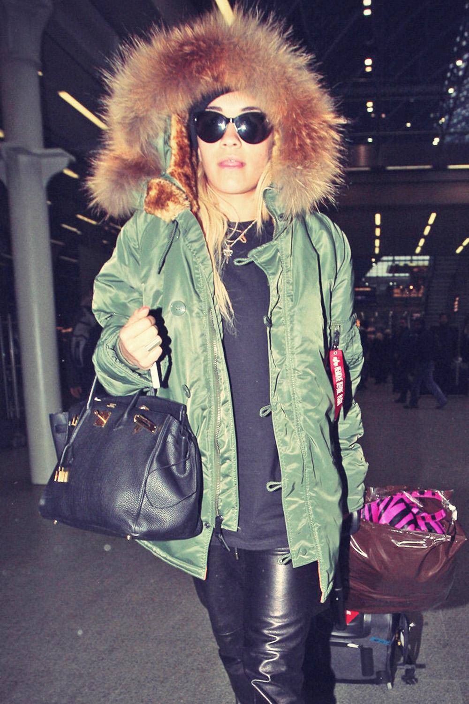Rita Ora arrives back at the St Pancras