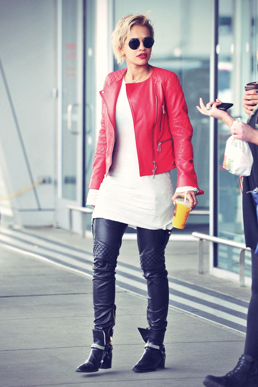 Rita Ora at JFK airport in NYC