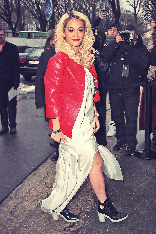 Rita Ora attends Paris Fashion Week 2013