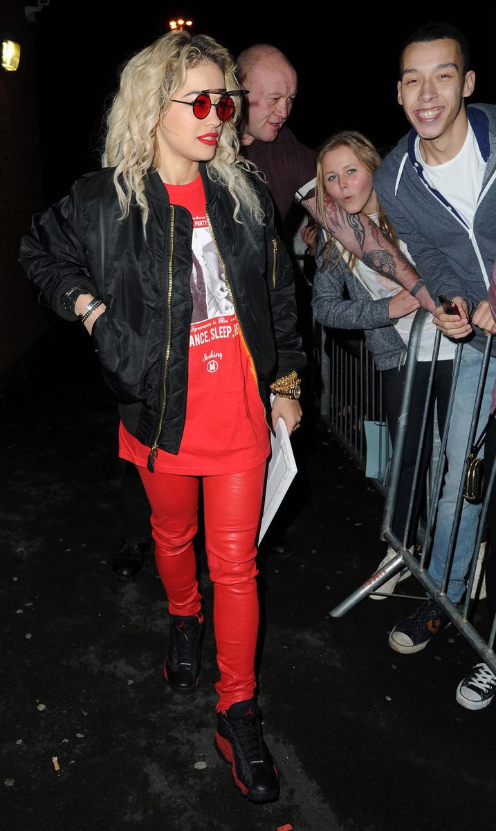 Rita Ora exits the Manchester Academy