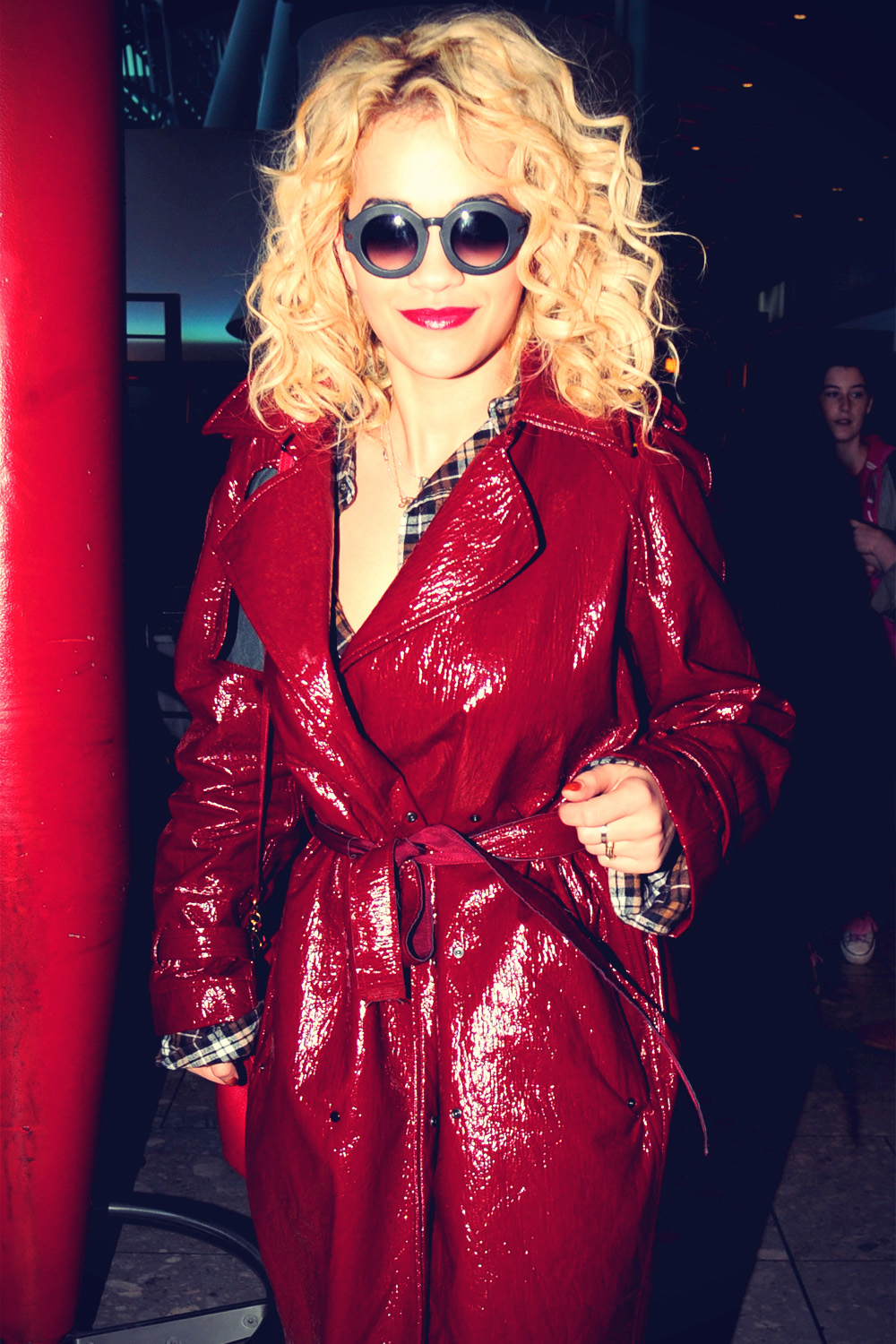 Rita Ora flies in from Boston to Heathrow Airport