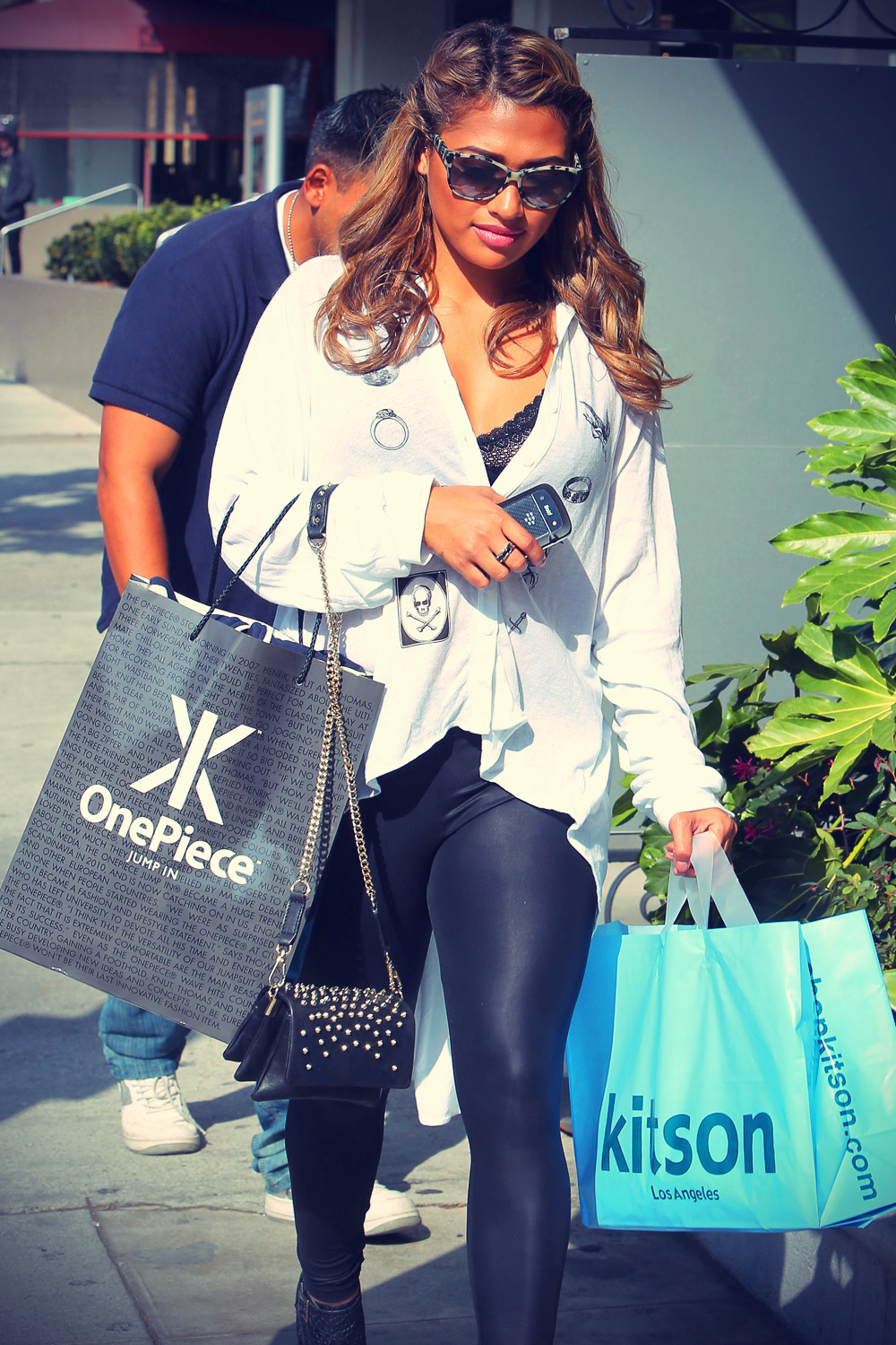 Vanessa White shopping in Beverly Hills