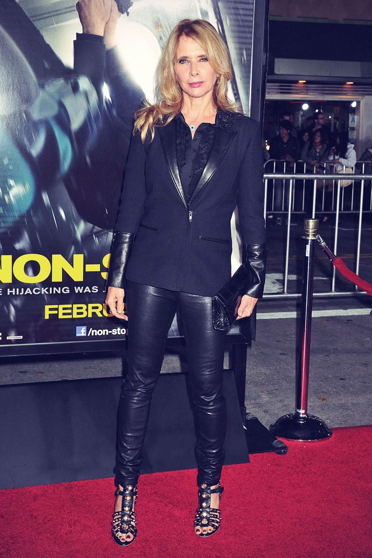 Rosanna Arquette arrives at the Los Angeles premiere of Non-Stop