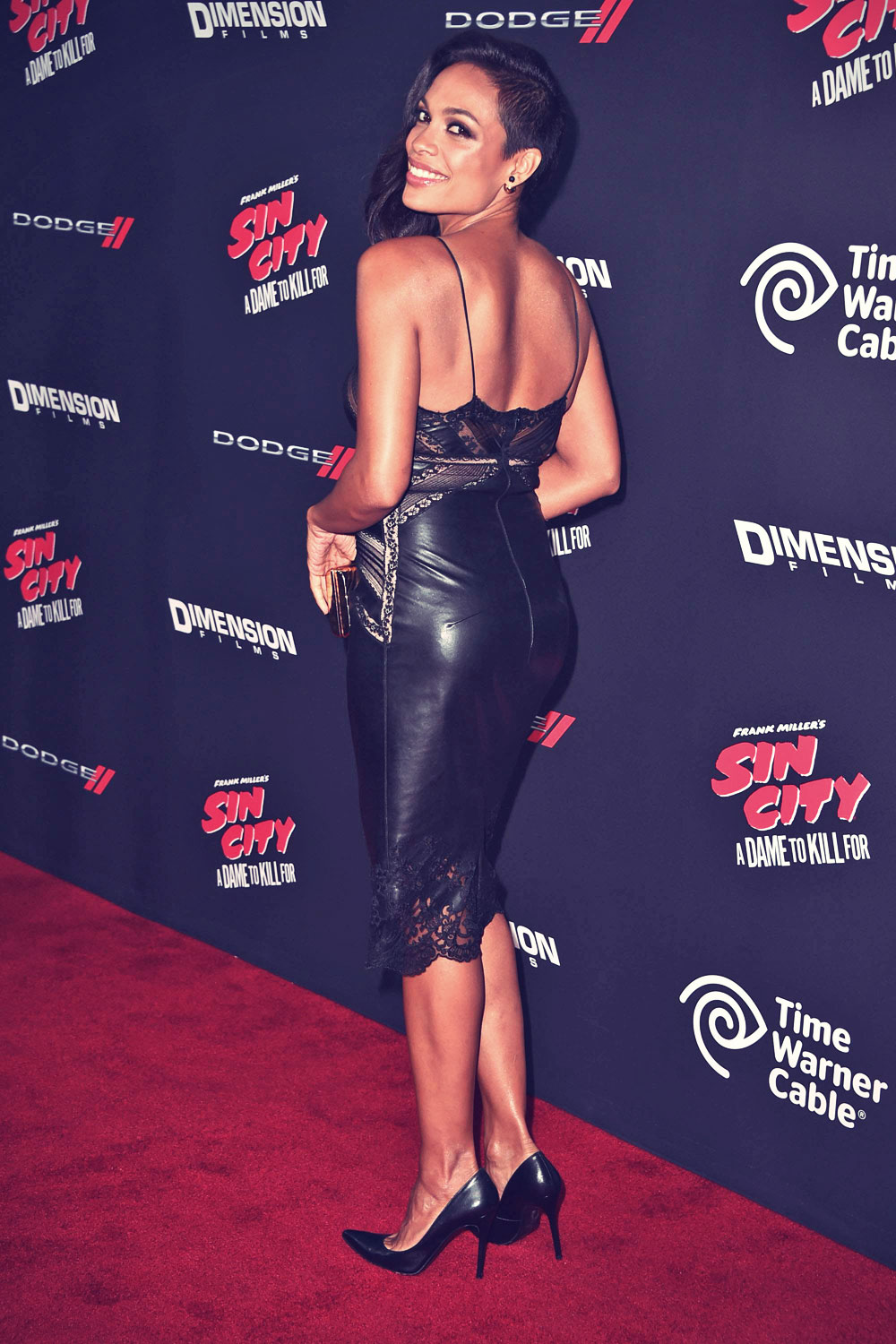 Rosario Dawson attends the Sin City A Dame To Kill For premiere