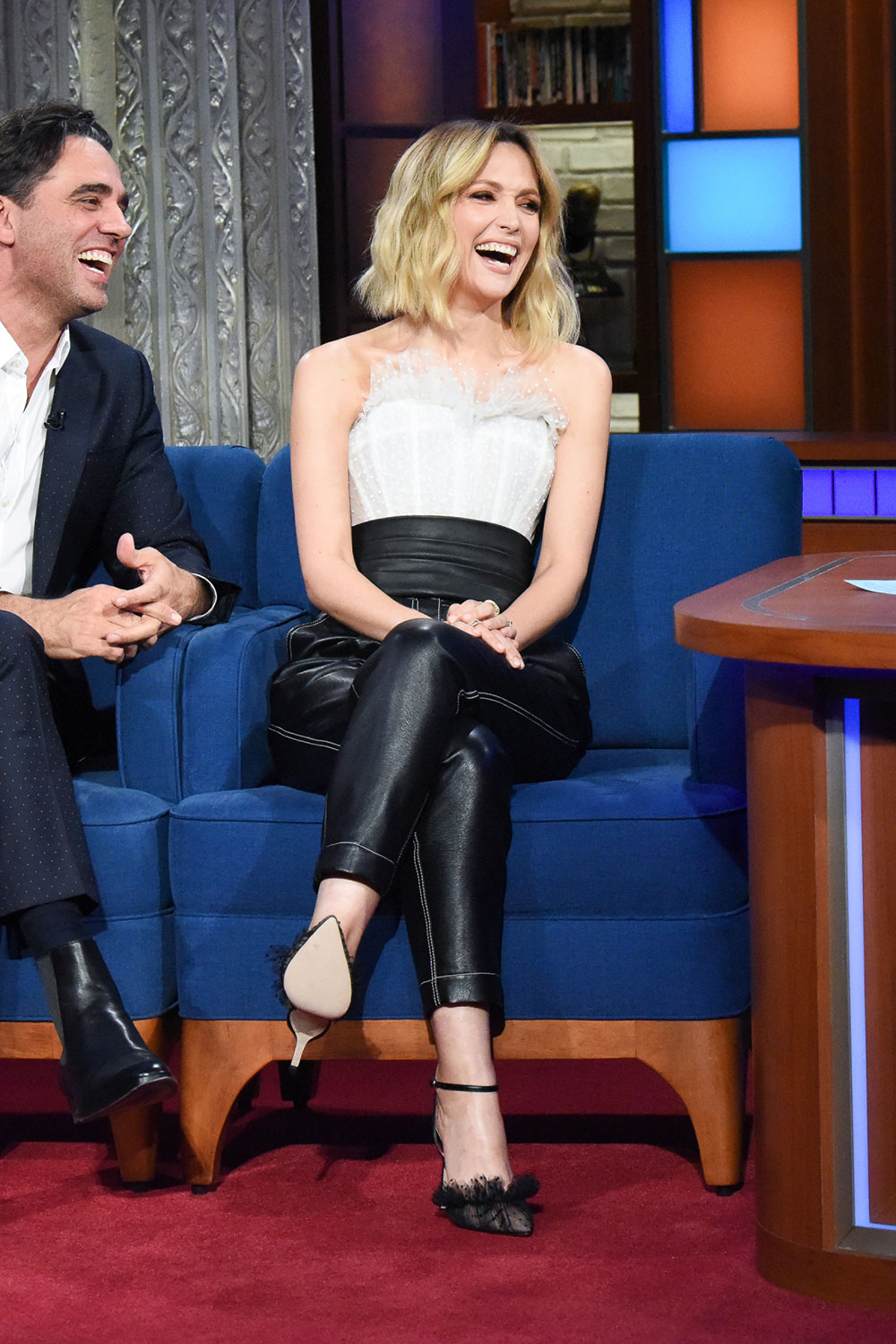 Rose Byrne attends The Late Show with Stephen Colbert