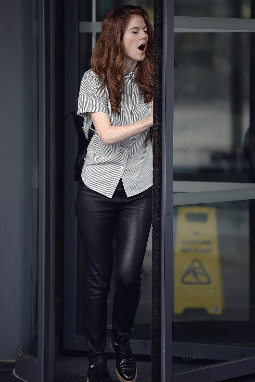 Rose Leslie leaving the BBC Studios