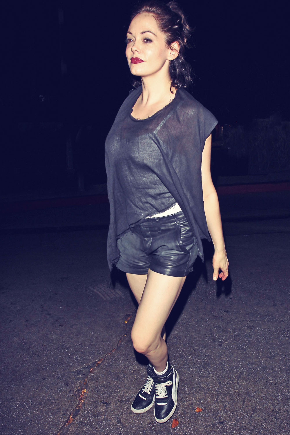 Rose McGowan at Chateau Marmont