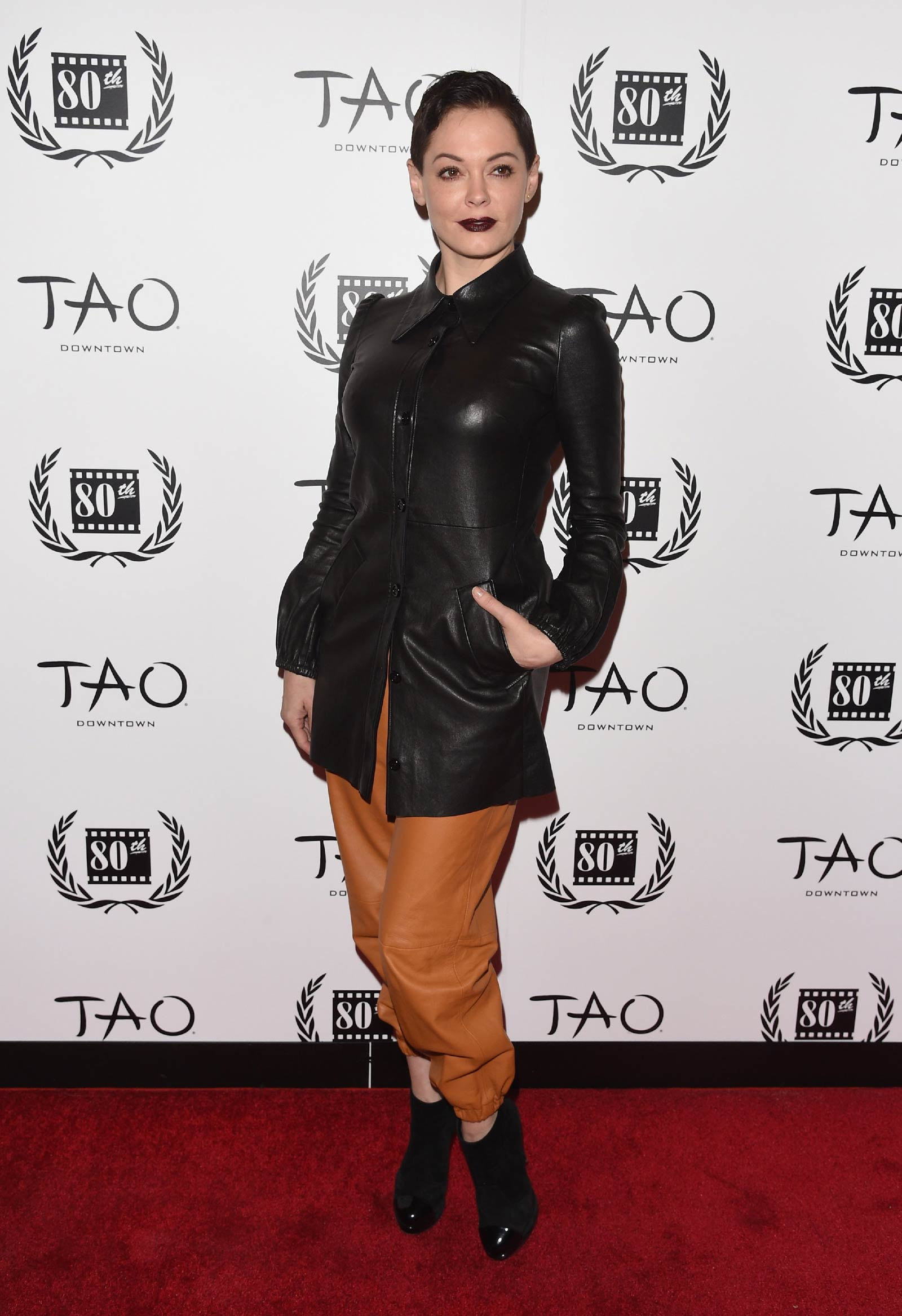 Rose McGowan attends NY Film Critics Circle Awards