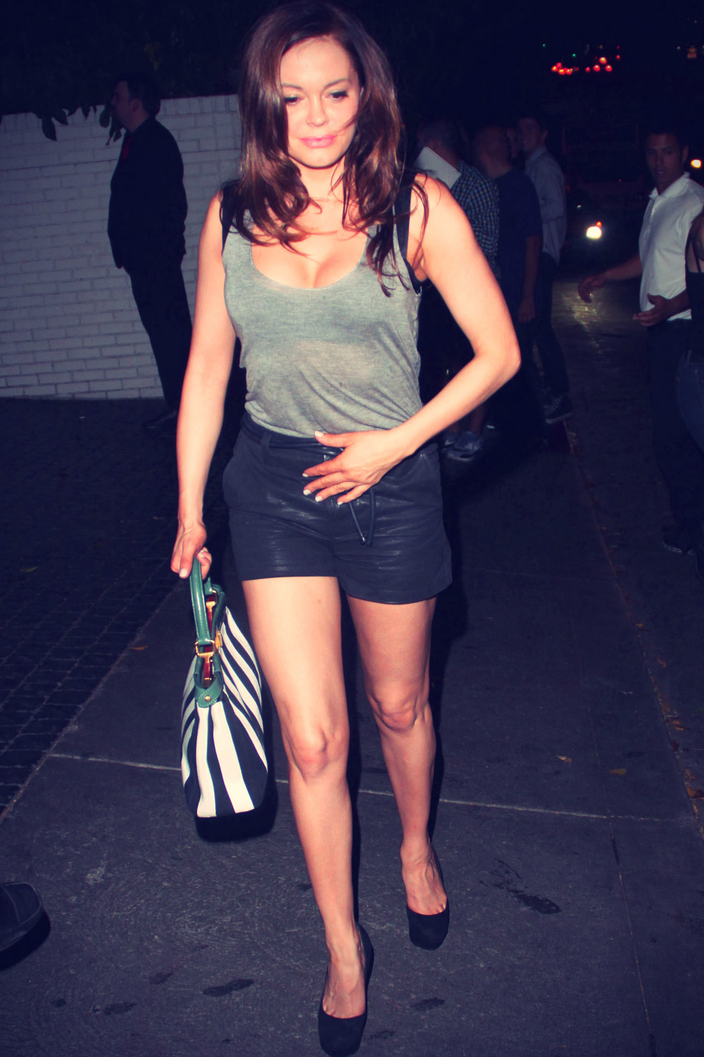 Rose McGowan outside Chateau Marmont