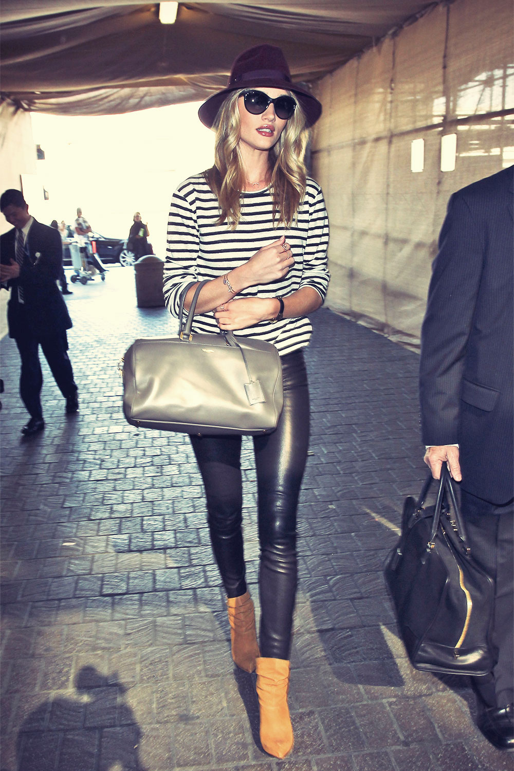 Rosie Huntington-Whiteley arriving at LAX Airport on her way to London