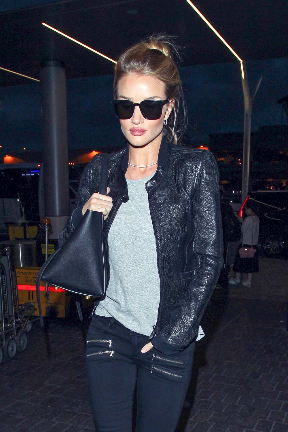 Rosie Huntington Whiteley at LAX