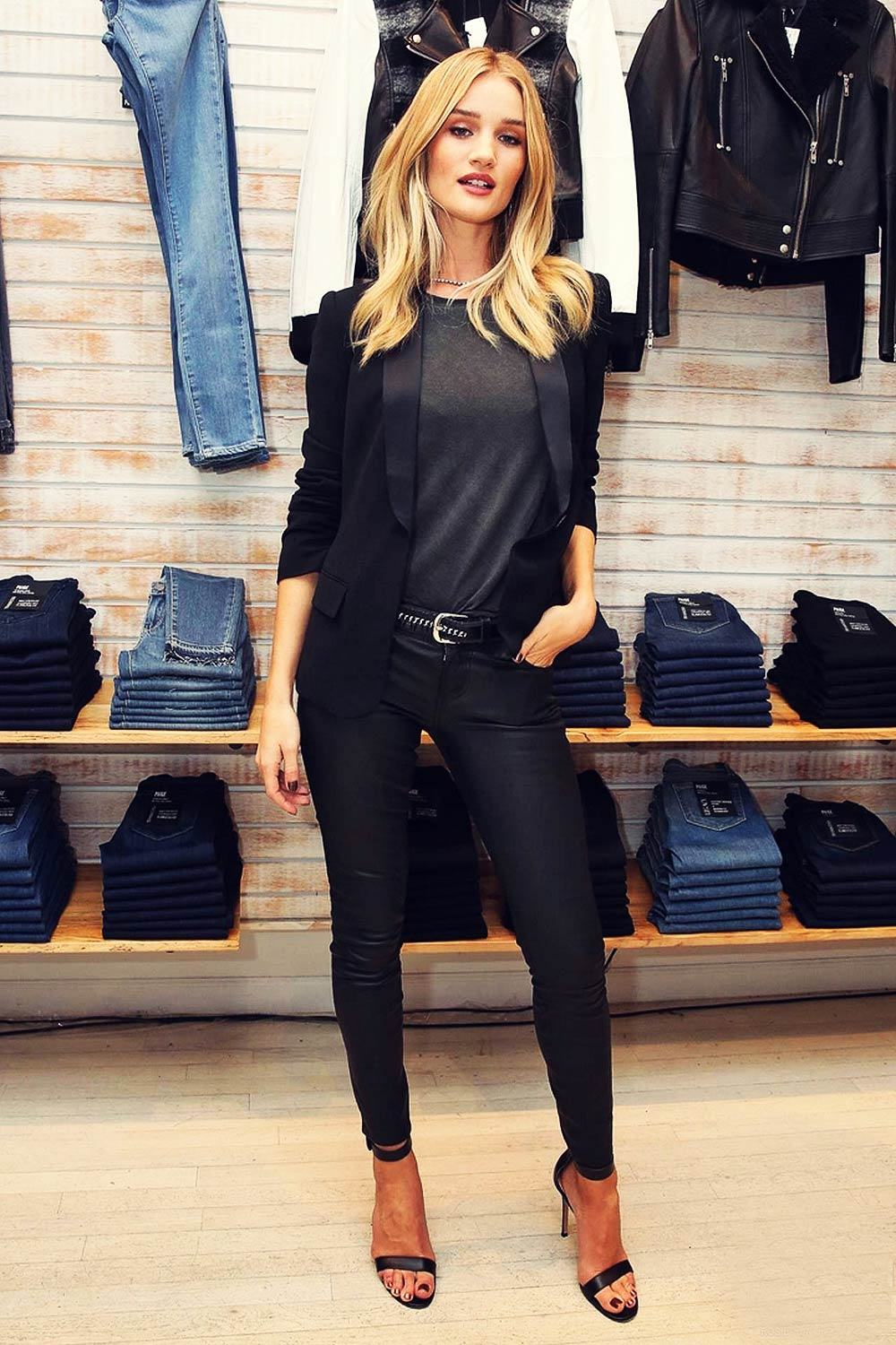 Rosie Huntington-Whiteley attend PAIGE SoHo Event