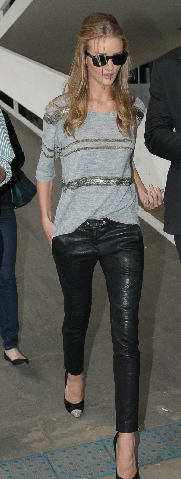 Rosie Huntington-Whiteley leaving after the Animale Fashion Show