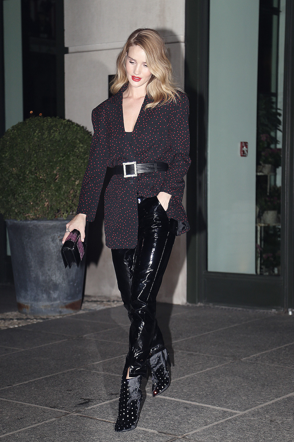 Rosie Huntington Whiteley leaving her hotel